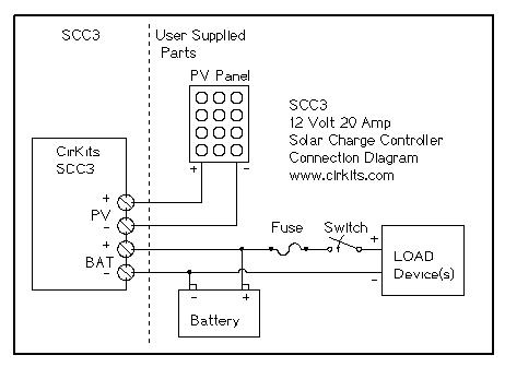 cirkits scc3 solar charge controller kit scc3 circuit board assembled scc3 wiring diagram